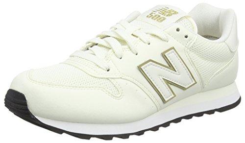 New Balance Damen GW500 Sneaker, Weiß (White/gold/GW500OGO), 37.5 EU