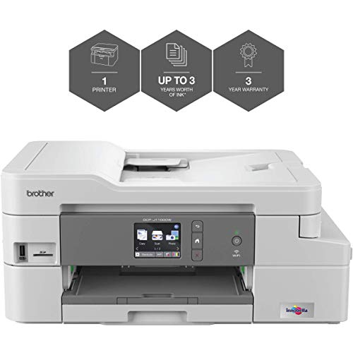 Brother DCP-J1100DW 'All in Box Bundle' Colour Inkjet Printer - All-in-One, Wireless/USB 2.0, Printer/Scanner/Copier, 2 Sided Printing, A4 Printer, Up To 3 Years' Worth Of Printing