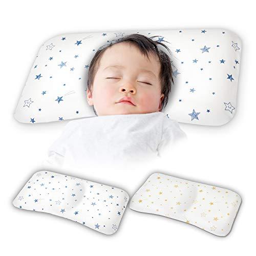 Cheria ベビー枕 向き癖 絶壁 防止 低反発 通気性 綿100% 【枕カバー2種類セット】