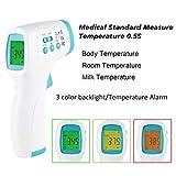 Termometro Frontale, Termometro a Infrarossi Portatile Senza Contatto, Letture Istantanee...