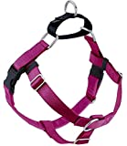 2 Hounds Design Freedom No Pull Dog Harness | Adjustable Gentle Comfortable Control for Easy Dog Walking |for Small Medium and Large Dogs | Made in USA | 1' LG Raspberry