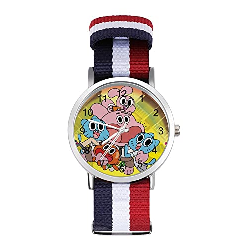Amazing World Gumball reloj de ocio para adultos, moderno, hermoso y personalizado aleación Shell casual reloj deportivo para hombres y mujeres