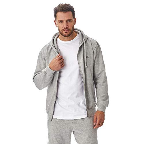 Iron Mountain Rigenerata morbido Pile Zip Hoody Hooded Sweatshirt, Grigio Chiaro Marl, x-Grande Mens