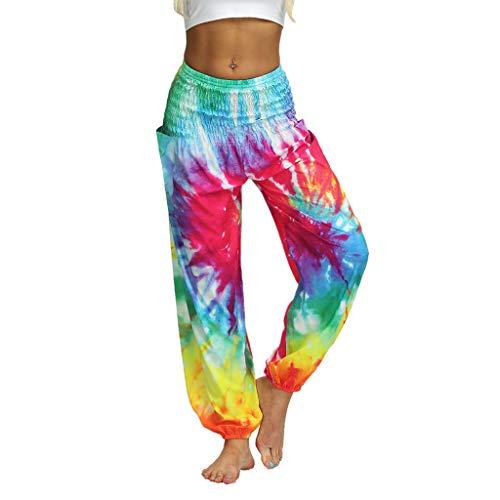 AIni Damen Yogahosen 2019 Neuer Beiläufiges Mode Unisex Loose Hippy Yoga Hose Baggy Boho Aladdin Hose Yoga Leggings Fitness Sport Hosen...