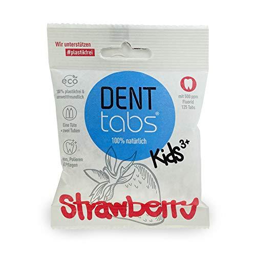 Zahnputztabletten Denttabs Kids Strawberry mit Fluorid