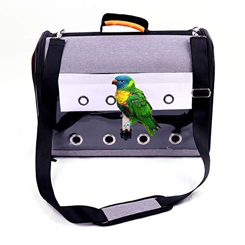 FYBlossom Vogeltrage Vogelkäfig Mit Ständer, Vogel Rucksack Transport Transporttasche Atmungsaktiv Vogel Transportkäfig Transport Rucksack Vogel Carrier Für Haustier Papagei Katzenkaninchen (Orange)