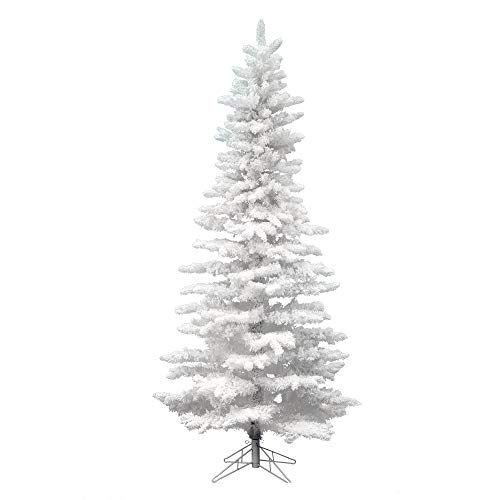 Vickerman 9' Unlit Flocked White Slim Artificial Christmas Tree