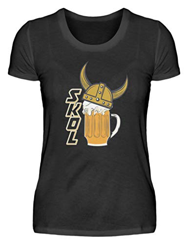 SPIRITSHIRTSHOP Vikinghelm Drinkspreuk Bier Honing - Damesshirt