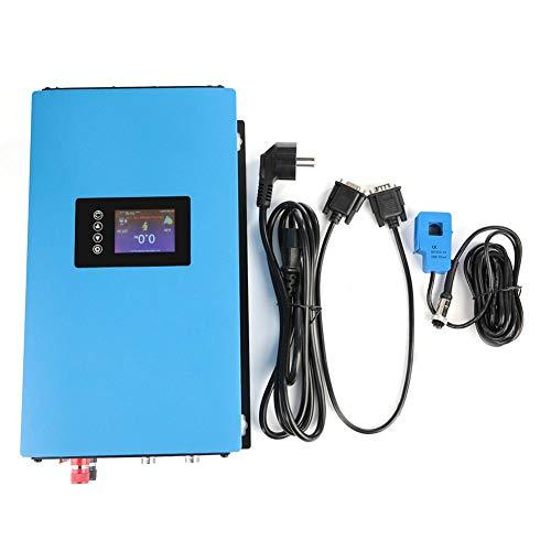 110/220V Wechselrichter Grid Tie Solar Wechselrichter mit Limiter Hocheffizienter Sinus-Solarwechselrichter 1000W/2000W mit EU-Stecker für Klimaanlagen Heimkinos(1000W 22-60VDC-Ohne WIFI)