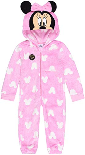 Coole-Fun-T-Shirts Minnie Mouse Overall Ladybug Jumpsuit Onesie Mädchen rosa Gr. 98 104116 128 cm 4 5 6 7 8 9 Jahre (104)