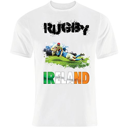 Endlessfugitive 6 Nations de Rugby Irlandais sans Fin. - Blanc - Large
