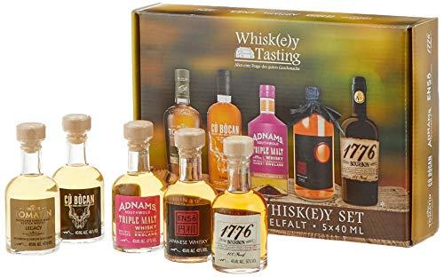 Premium Whisky Set Miniaturen: Tomatin Whisky Legacy, Whiskey Cu Bocan, Enso japanischer Whisky, 1776 Bourbon Whiskey - das perfekte Geschenk für Whisky / Spirituosen - Liebhaber