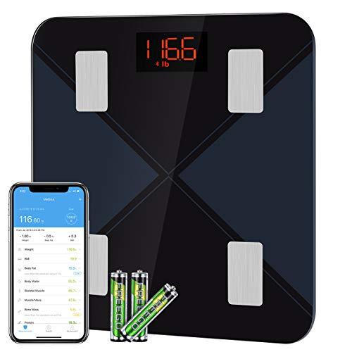 BasculadeBaño, BásculaInteligente Bluetooth Mpow BásculaGrasaCorporal Digital,13 Mediciones Esenciales: BMI,...