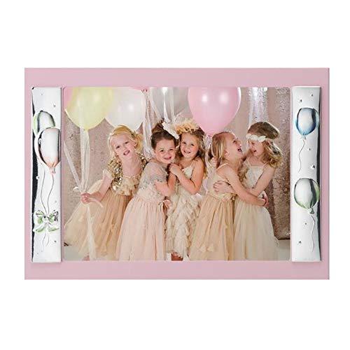 Fotolijst voor kinderen roze hout zilver ballonnen grootte 18 x 13 Acca B.76EM.1R