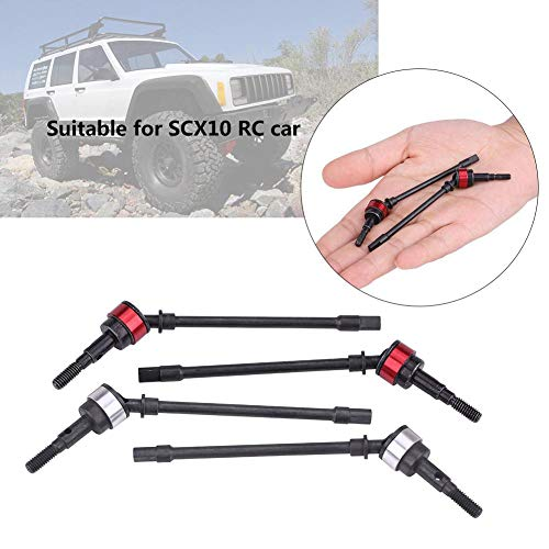 Dilwe 4 Stück Hartstahl Vorderachse Antriebswelle für SCX10 Fernbedienung Auto Modell Zubehör Teile