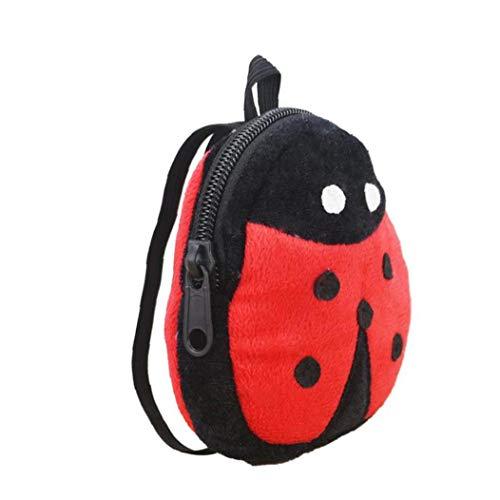 Mini Rucksack Nette Art Und Weise Puppe Tasche Kreative Marienkäfer-Entwurf Mini-mädchen-Rucksack Micro Rucksack Multi-funktions-puppenzubehör