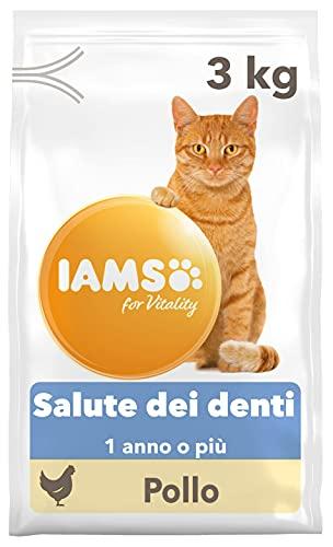IAMS for Vitality Cibo Secco per Gatti, per la Salute Dentale, con Pollo Fresco, 3 kg