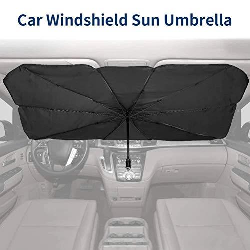 Blossion Auto Portapacchi Borsa Pieghevole Parabrezza Parasole Ombrello Auto UV Copertura Parasole Isolamento Termico della Finestra Anteriore di Protezione Interni (Color : 125x65cm)