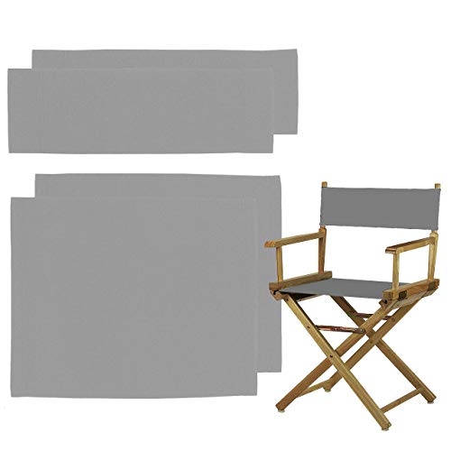 STAY GENT 2 juegos Directores Sillas Reemplazo Lona Asiento Taburete Directors Chair Replacement Covers, Gris