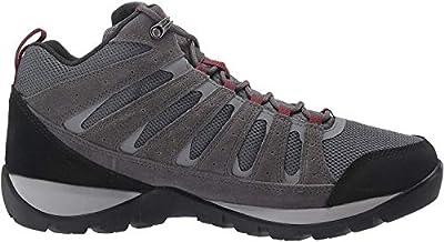 Columbia Men's Redmond V2 MID Waterproof Hiking Shoe, Graphite, red Jasper, 13 Regular US