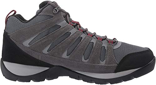 Columbia Men's Redmond V2 MID Waterproof Hiking Shoe, Graphite, red Jasper, 13 Regular US