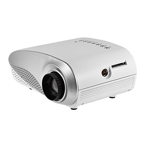 Proyector LED Full HD ZXIANGK 1080P de 100 Pulgadas, 50.000 Horas de Vida útil de la lámpara LED, Compatible con USB/HD/SD/AV/VGA para el hogar EU-Plug Blanco