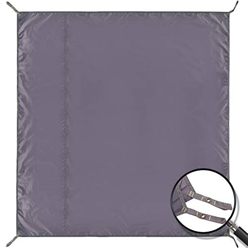 REDCAMP Waterproof Camping Tent Tarp - 71'x83', 4 in 1 Multifunctional Tent Footprint for Camping, Hiking and Survival Gear, Lightweight and Compact