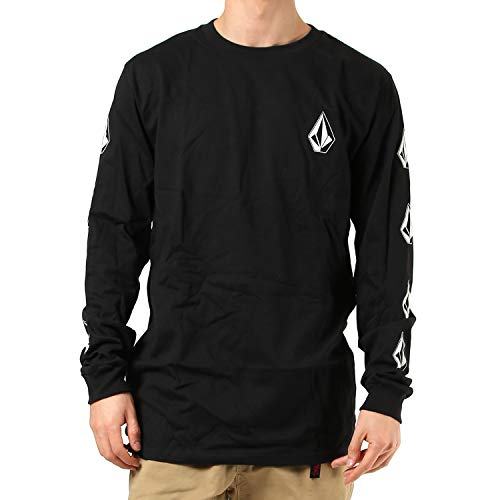 Volcom mens Deadly Stones Long Sleeve T-shirt T Shirt, Black, Large US