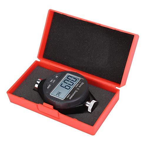 Pyrojewel Durómetro, 100HD C Durómetro, Shore Rubber Hardness Tester, pantalla Durómetro Digital, 0-100 °, for medir la dureza de caucho, gel de sílice, neumático y de plástico Herramientas de medició