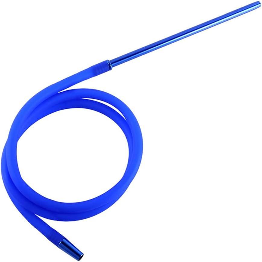 FWL Manguera de la manija de la manija Larga de Silicona - extensión de 1,5 m con la manija de Metal y el zócalo de Acero Inoxidable - Tubo Moderno, Azul