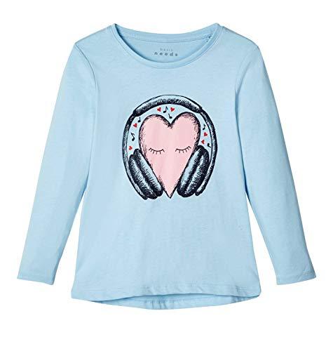 NAME IT Kinder Mädchen Langarmshirt Gr.92-128 Shirt hellblau Pullover neu!, Größe:116