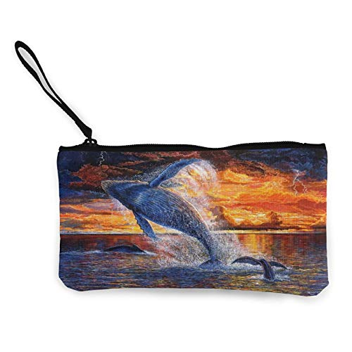 Sunset Ocean Space Womens Coin Change Purse Pouch Multipurpose Toiletry Bags Wallet Craft Bag
