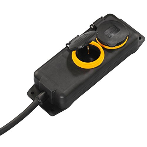 Hama 00137281 Outdoor 2AC Salidas 2m Negro Base múltiple - Extensiones eléctricas...