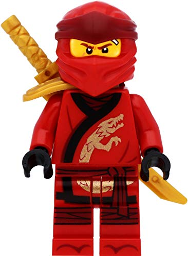 LEGO Ninjago - Figura de Kai (Legacy) con hombreras y espadas
