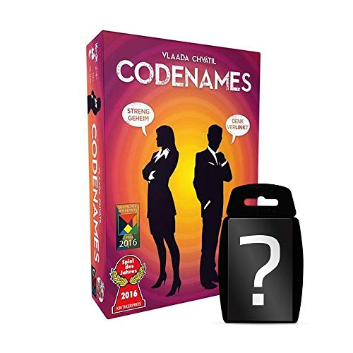Codenames - Grundspiel - Kartenspiel | DEUTSCH | Spiel des Jahres 2016 | Set inkl. Kartenspiel