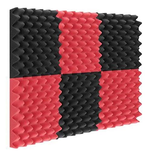 Z.L.F.J.P Tablero de Espuma acústica Caja de Huevo Caja de Espuma Aislamiento de Sonido Almohadilla de Estudio Espuma de Espuma ABSORTCIÓN ABSORCIÓN Ajuste Tile Coda POLIETETANO Espuma