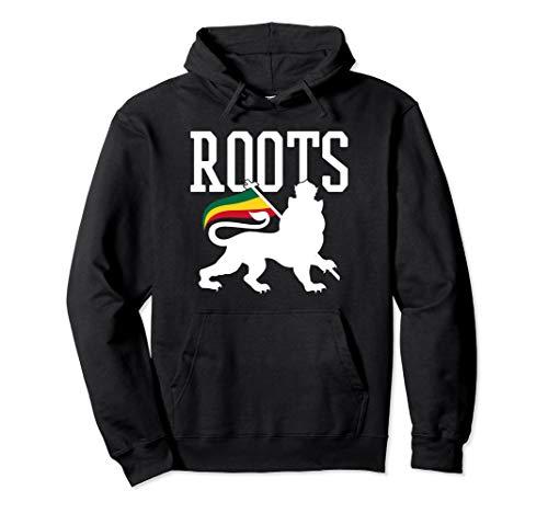 Reggae Roots - Lion Of Judah Rastafari Rasta Musik Geschenk Pullover Hoodie