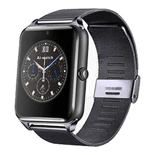Wsaman Fitness Tracker Smartwatch Pantalla Color Táctil Completa con Monitor de Ritmo Cardíaco Pulsera Actividad Inteligente Reloj Deportivo, para Android/Hombre/Mujer, Podómetro Pulsera,Negro