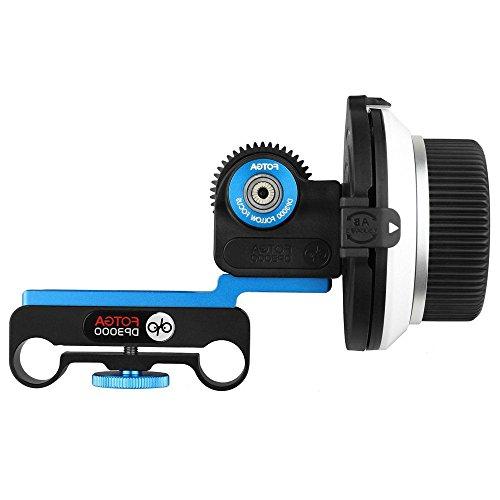FOTGA DP3000 M2 Follow-Fokus Follow Focus mit A/B Stopp für alle DSLR Digitale Kameras 5D2 5D3 5DIV 60D 650D 7D D90 D7000 D5000 D3100 D850 Panosonic GH3 GH4 GH5 GH5s Sony A7 A7S A7R II III A9 A6300 A6500 Kamera (M1 Follow Focus)