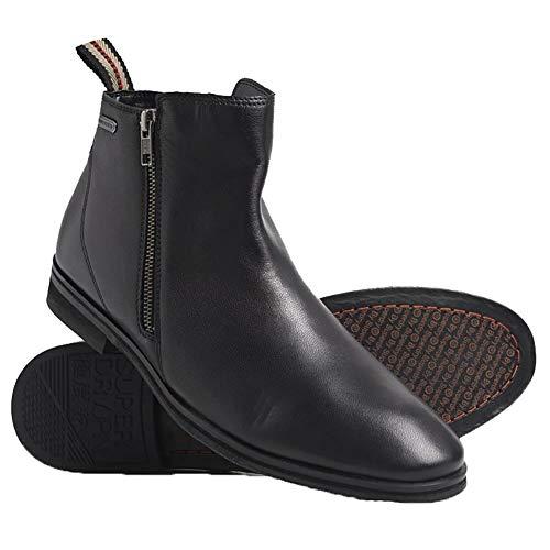 Superdry Herren Trenton Zip Boot Klassische Stiefel, Schwarz (Black 02a), 43 EU