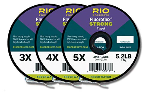 Rio Fishing Products FLUOROFLEX Strong Tippet 3-Pack 3X-5X