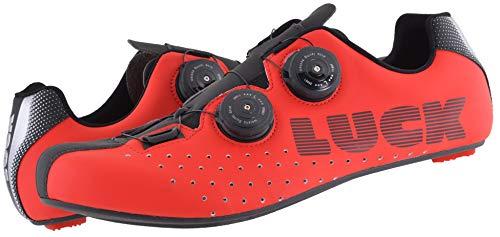 Zapatillas Bicicleta Carretera Luck (Rojo, Numeric_42)