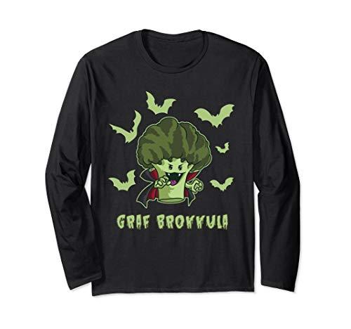 Graf Brokkula - Brokkoli Vampir will deinen grünen Saft Langarmshirt