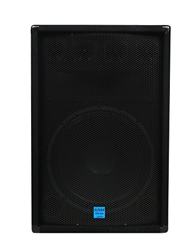 Gemini GSM-1585 175W Negro altavoz - Altavoces (De 2 vías, Alámbrico, Terminal + 2x 6.3mm, 175 W, 40-20000 Hz, Negro)