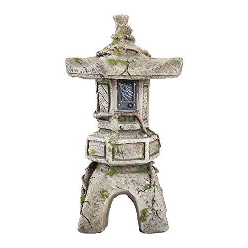 LIUSHI Pagoda Japonesa del Ornamento Solar del jardín, decoración al Aire Libre Buda de la decoración de la Linterna de la Escultura
