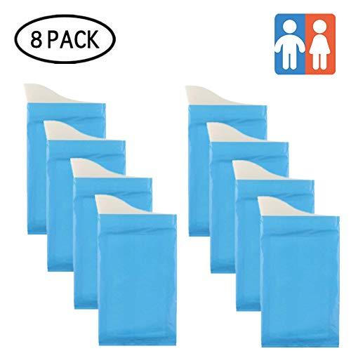 DQTYE 8 PCS Gels instantly Disposable Urine Bags Camping Travel Pee Bags Hiking Hygiene Sanitation Bag Traffic Jam Emergency Portable Toilet for Men Women Children (8 pcs)