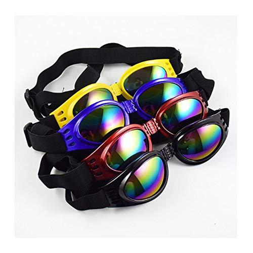 Sonnenbrille für Hunde UV-Schutz, modische, wasserdichte, Faltbare Hundebrille Sonnenbrille Sonnenschutz für Hunde Outdoor-Brillen Polarisierte Linse (4 STÜCKE)