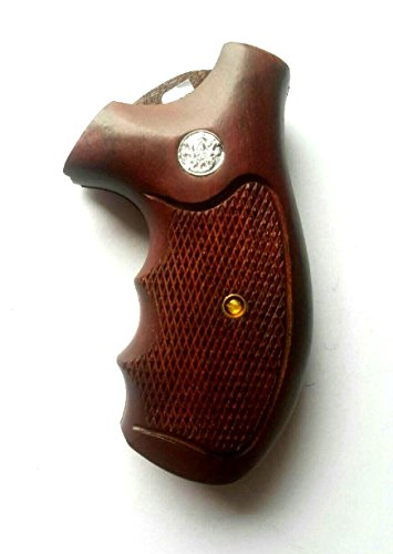 DOXICON&NOMIX Hardwood K Frame Round Butt Smith and Wesson Handcraft Handmade Grips Revolvers MP