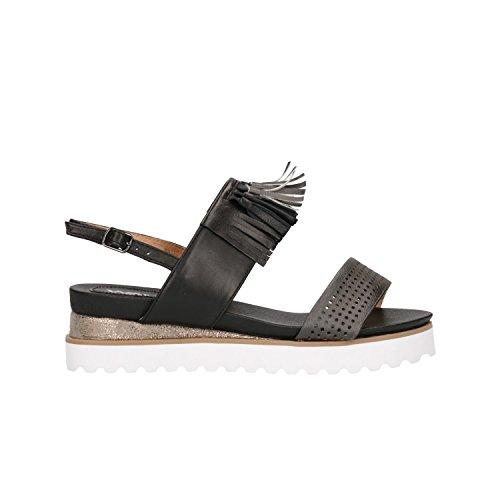Melluso Sandali Fondo Alto Nero Scarpe Donna K81000 40
