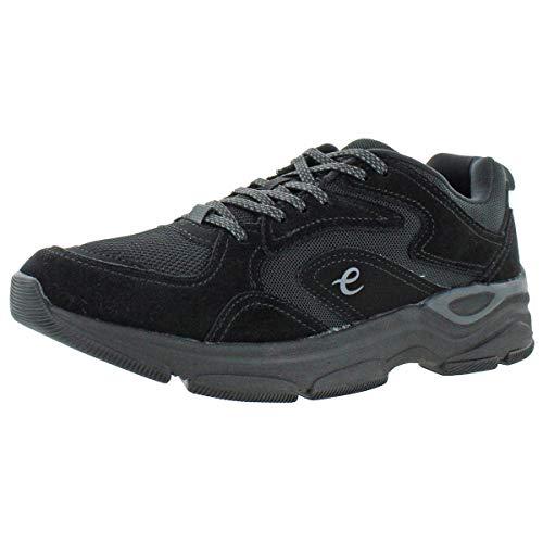 Easy Spirit Women's Squat Suede Lace Up Walking Sneakers Black Size 8.5